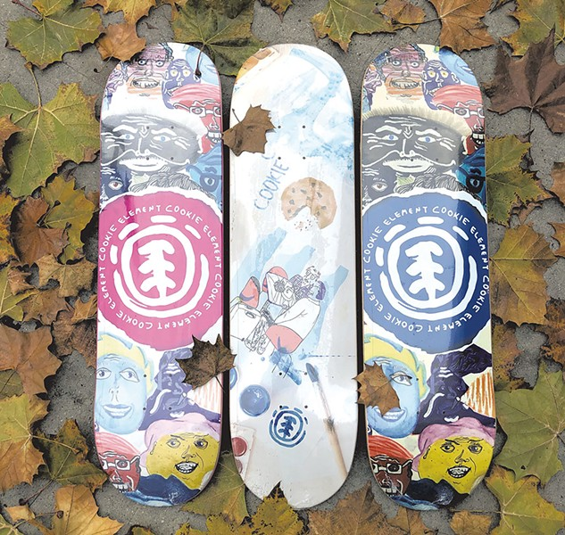 Chris Colbourn's new Element skateboards - COURTESY OF MASON MILLER