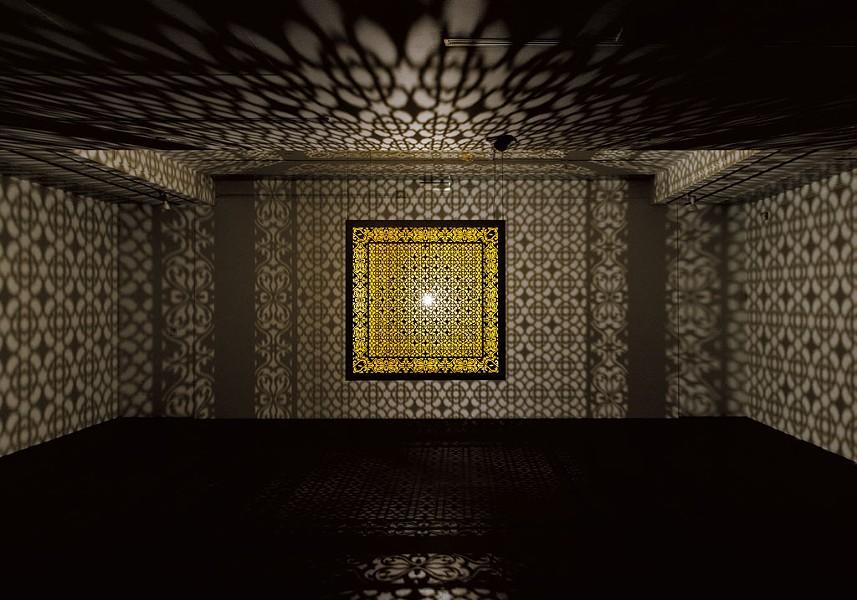 """Hidden Diamond-Saffron"" by Anila Quayyam Agha - COURTESY OF SUNDARAM TAGORE GALLERY IN NYC/BCA CENTER/SAM SIMON"