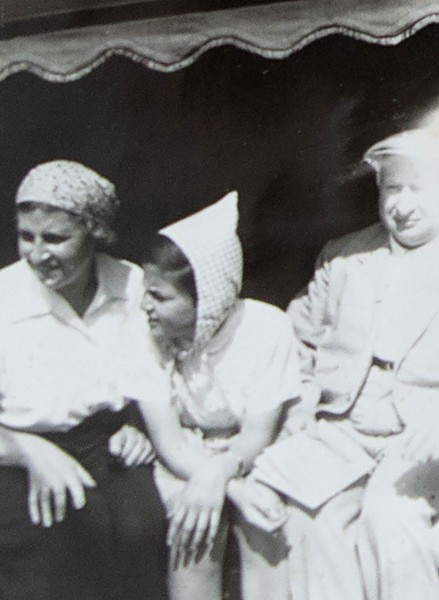 Keibel's mother, sister and father aboard the M.S. St. Louis - COURTESY OF THE KEIBEL FAMILY