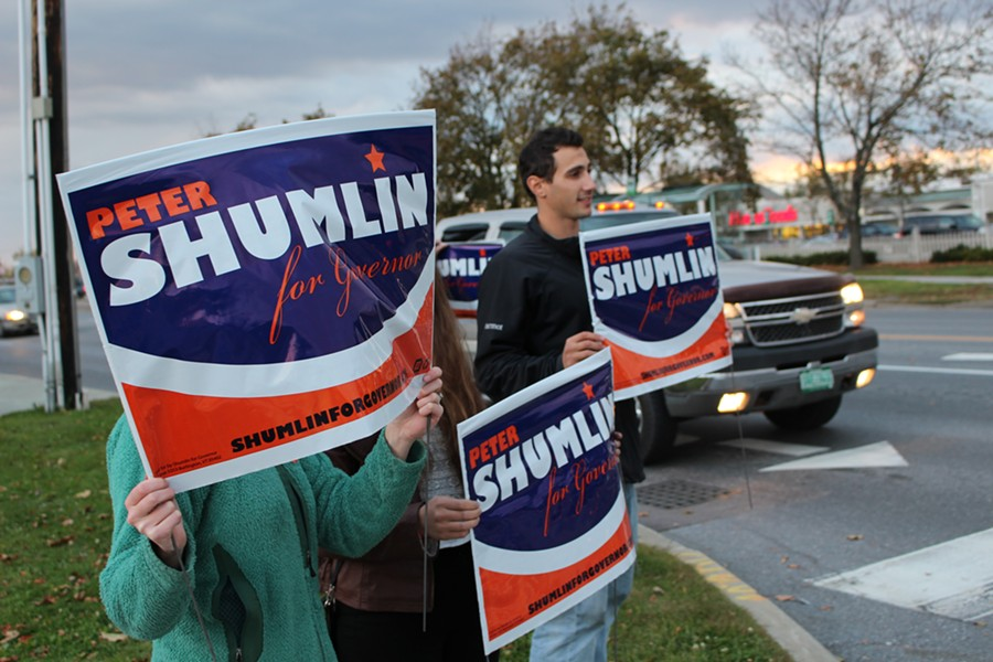 The race to replace Gov. Peter Shumlin is taking candidates downtown. - FILE PHOTO