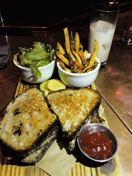 Hemp-seed patty melt at Juniper - SALLY POLLAK