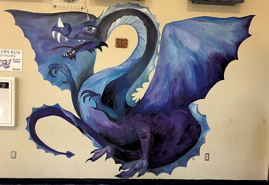 """Draco"" mural at Miller's Run School in Sheffield - PHOTOS COURTESY OF VERMONT ARTS COUNCIL"