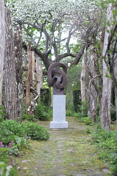 """Locus"" sculpture by Miles Chapin in Westminster West garden - COURTESY PHOTO"