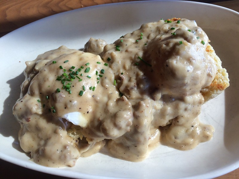Biscuits and gravy ($10) - ALICE LEVITT