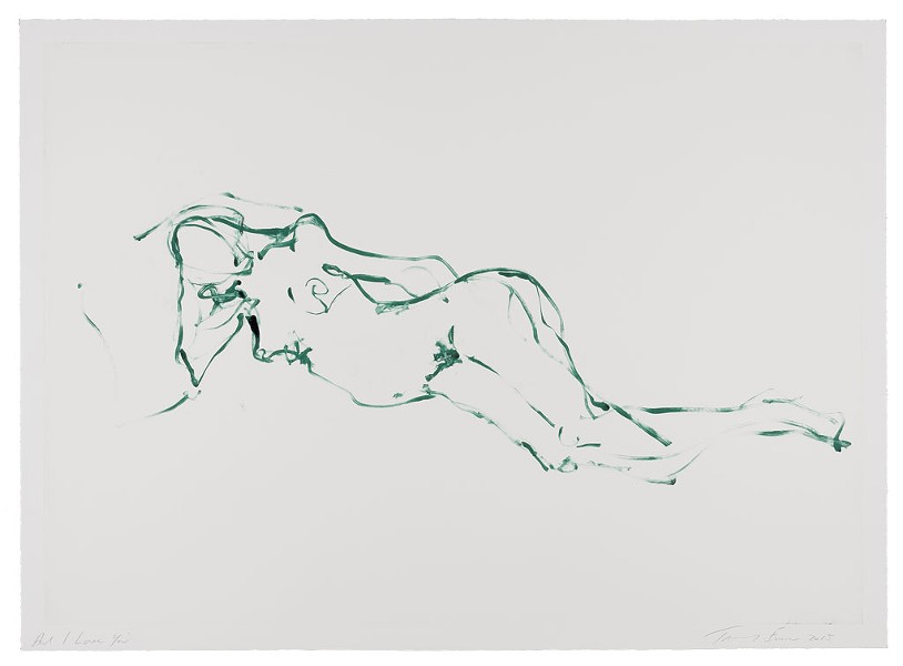 """And I Love You"" by Tracey Emin - COURTESY OF HELEN DAY ART CENTER/MOMA"