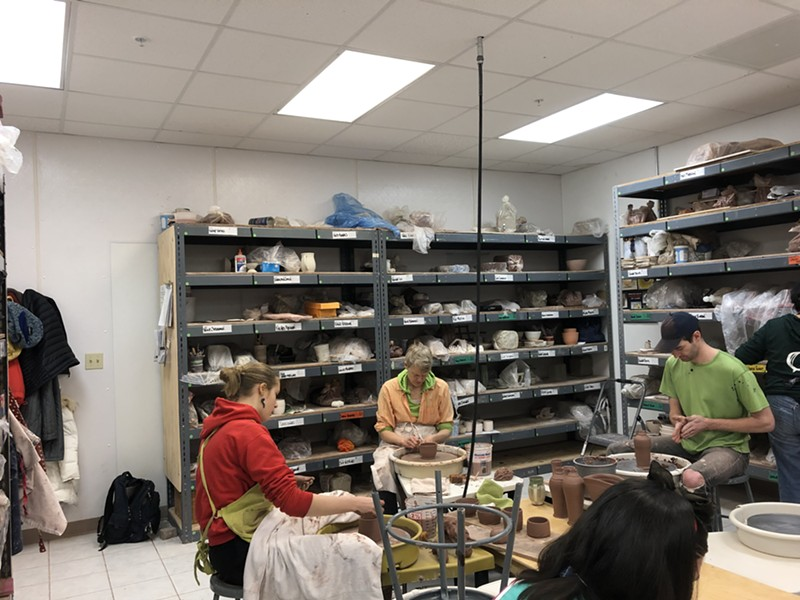 Clay artists at work in the studio at 405 Pine Street - MOLLY WALSH