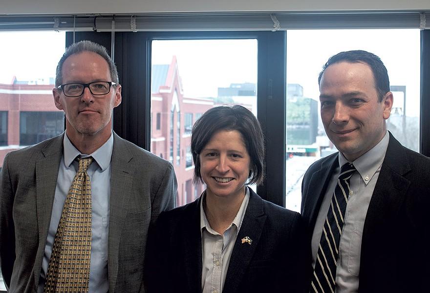 From left: Michael Drescher, Christina Nolan and Owen Foster - DEREK BROUWER