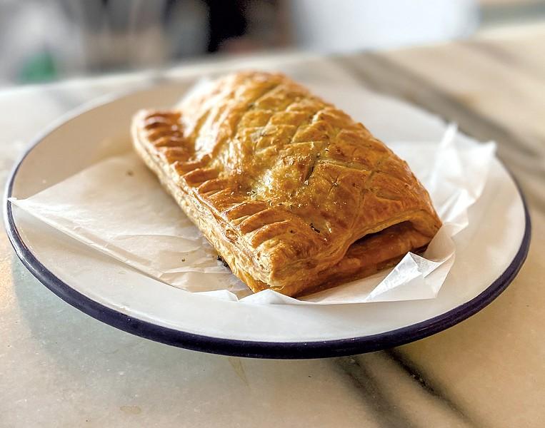 Pork and sage English sausage roll at Piecemeal Pies