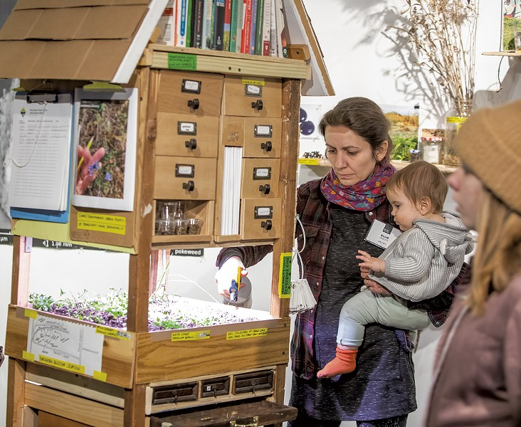 """Next Epoch Seed Library"" co-collaborator Ellie Irons with her daughter - LUKE AWTRY"