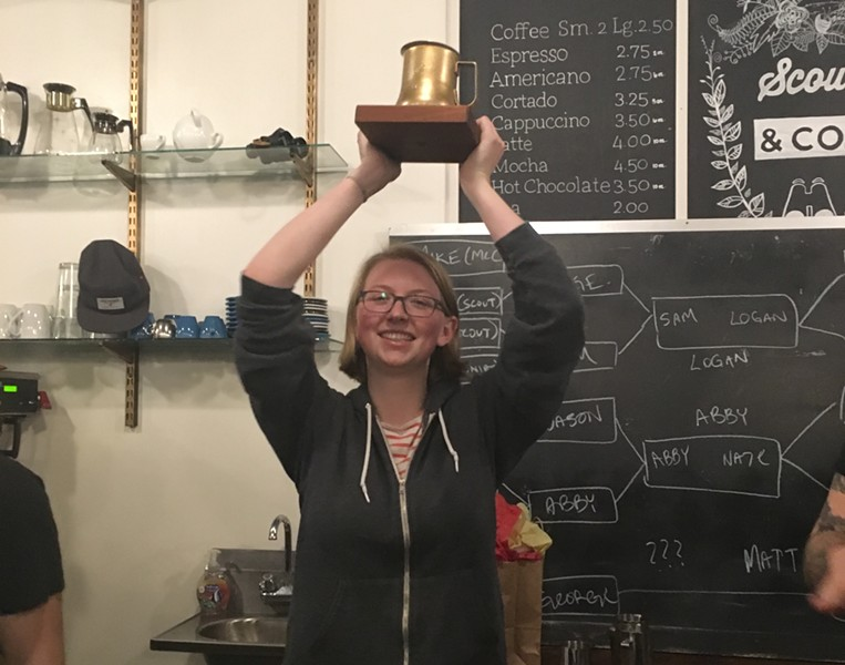 Throwdown winner Abby Holden of Maglianero Café - COURTESY OF IAN BAILEY