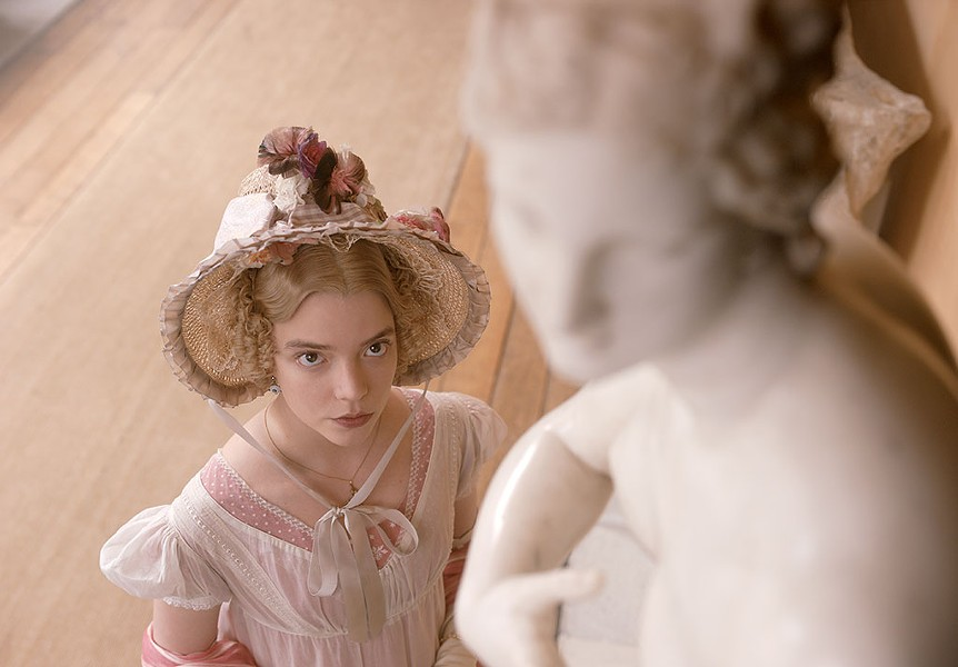 STAREDOWN Taylor-Joy plays an influencer with a ruthless appetite for perfection in the new adaptation of Austen's novel.