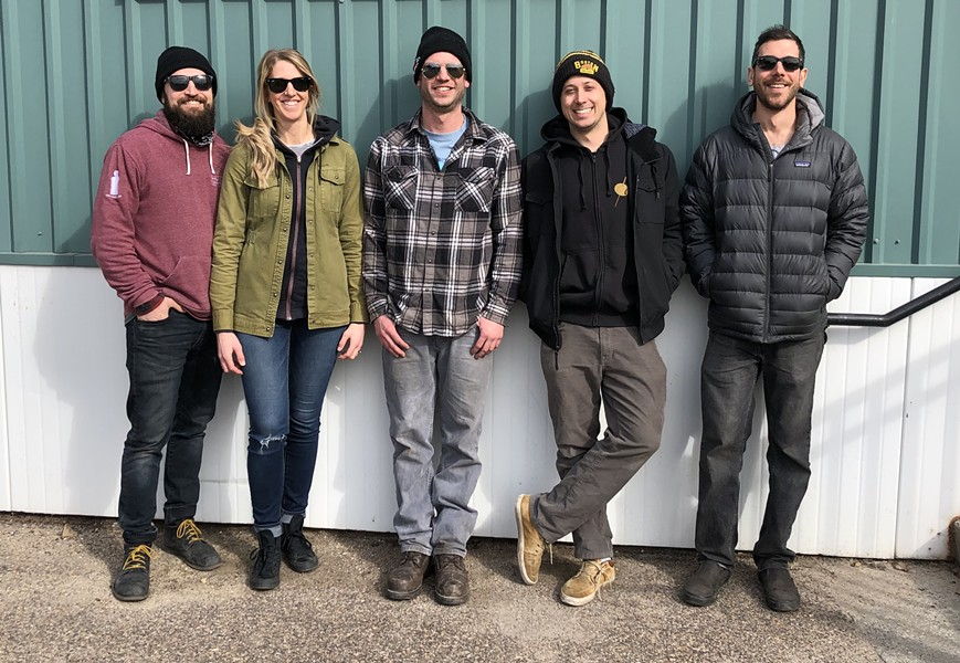 The Riot Squad, from left: Matt Farkas, Christie Farkas, Matt Small, Jacob Shane, Sam Tolstoi - JORDAN BARRY