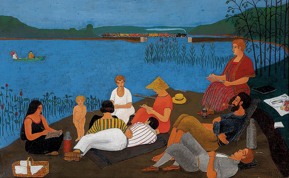 """""""Picnic, Shaker Lake, Alfred, Maine"""" by Samuel Wood Gaylor - COURTESY OF FLEMING MUSEUM OF ART"""