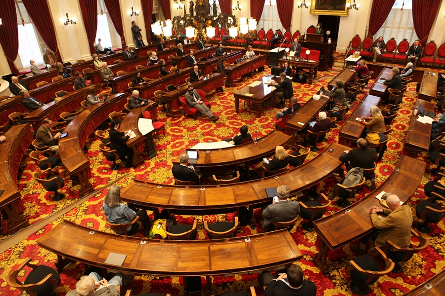 Social distancing in the House chamber - KEVIN MCCALLUM