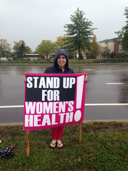 Erin Irons demonstrating for Planned Parenthood. - COURTESY: ERIN IRONS
