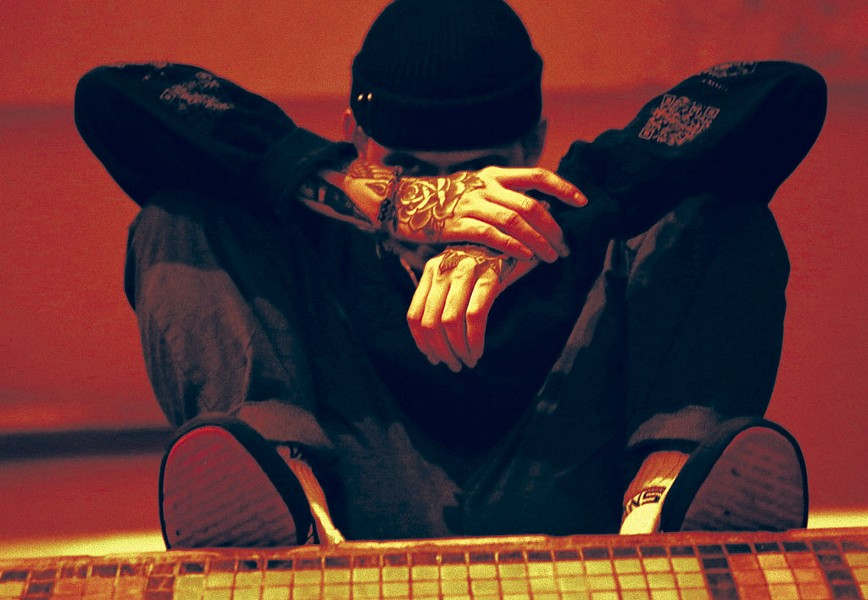 Vermont emo and hip-hop artist nothing,nowhere. was scheduled to perform at ArtsRiot in Burlington on April 15. - COURTESY OF FOX BEACH