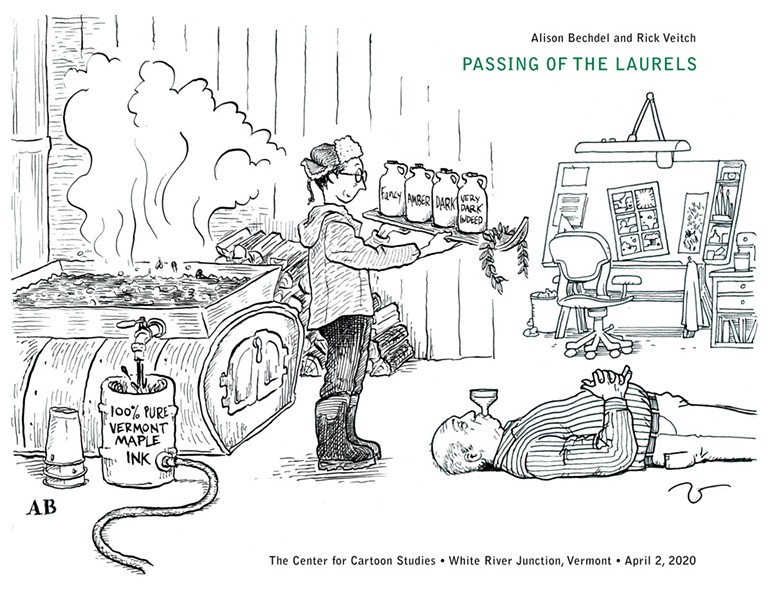 The passing of the laurels, Vermont style - ALISON BECHDEL AND RICK VEITCH