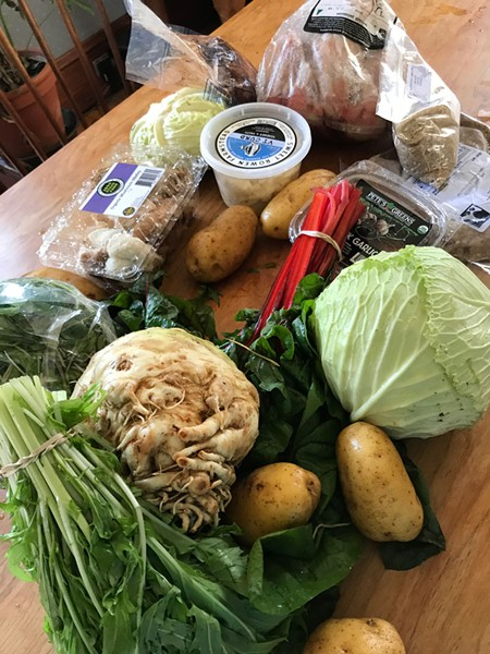 Weekly farm share from Pete's Greens - SALLY POLLAK