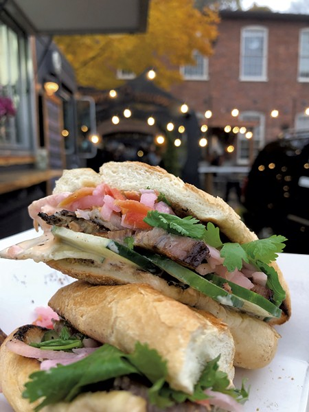 Pork belly banh mi at Foam Brewers - COURTESY OF SOLOMON BAYER-PACHT