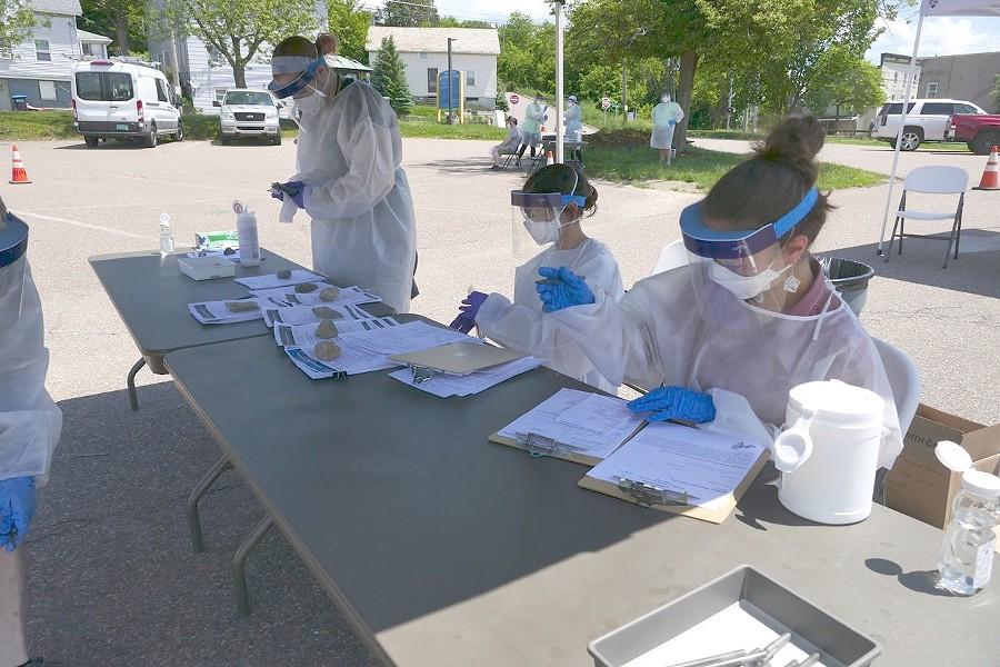 COVID-19 testing in Winooski on Friday - ANDREA SUOZZO