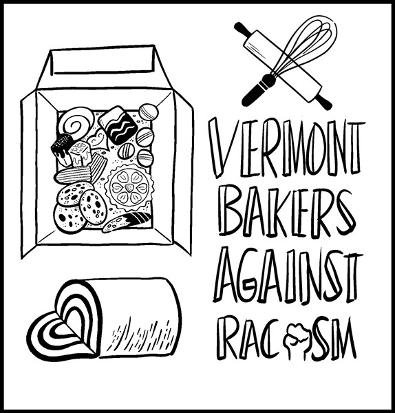 "The Vermont Bakers Against Racism collaborative ""Bakers' Box"" - ILLUSTRATION BY MOLLY HADWIN"