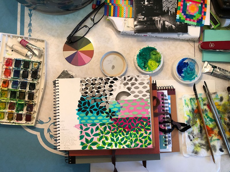 Arista Alanis' studio - COURTESY PHOTO