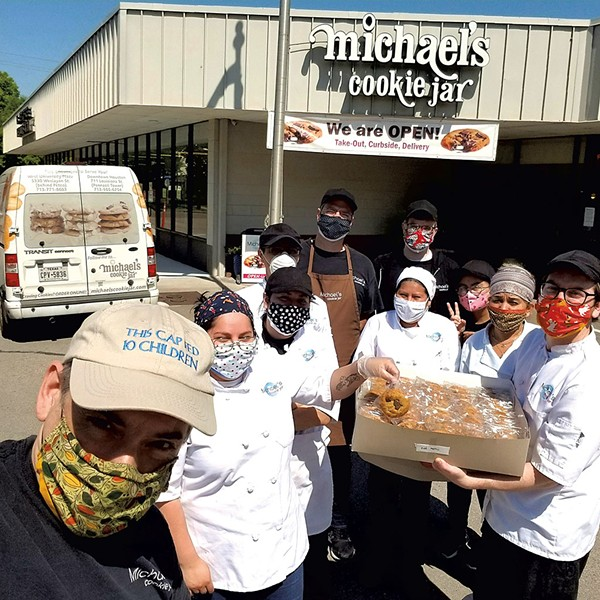 Michael's Cookie Jar donating cookies to Kids' Meals in Houston, Texas, supported by King Arthur's For Goodness Bakes program - COURTESY OF MICHAEL SAVINO