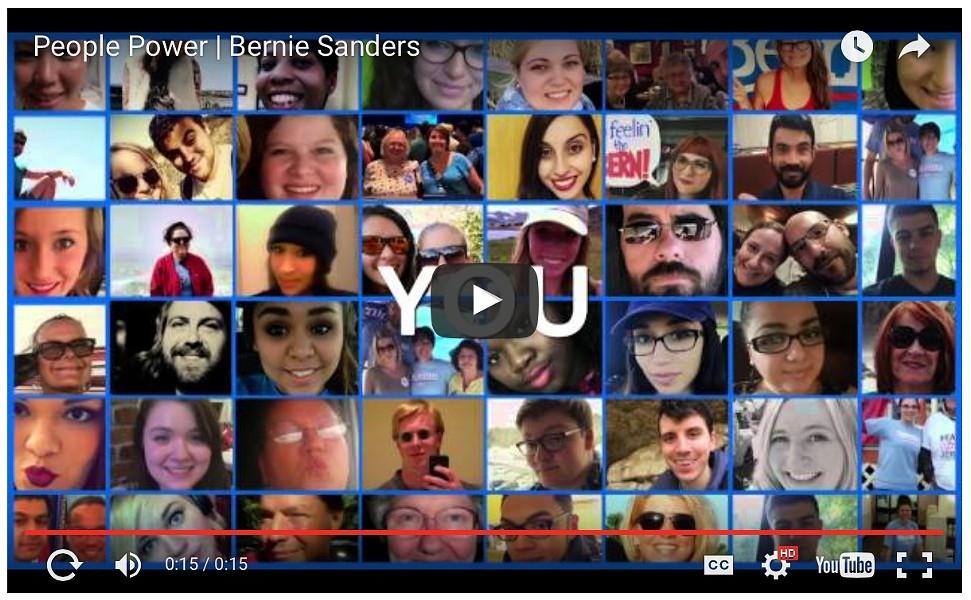 A still from Sen. Bernie Sanders' thank-you video - SCREENSHOT