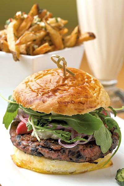 Beet burger at Grazers - OLIVER PARINI