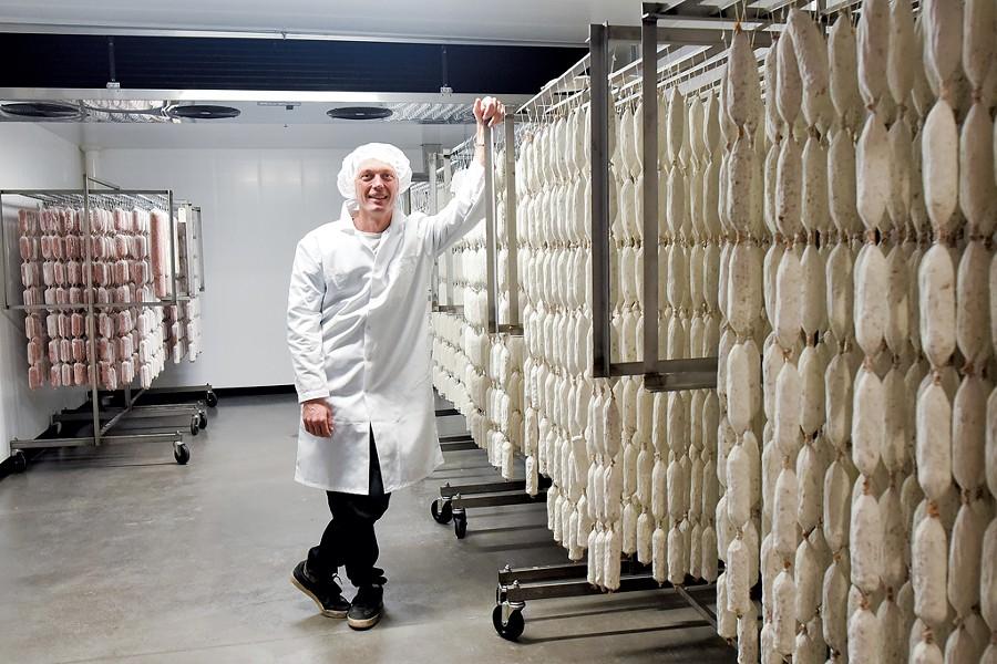 Pete Roscini Colman of Vermont Salumi and Alimentari Roscini in Barre - COURTESY OF TOMMY FRIEDMAN