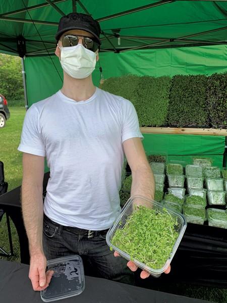 Brent Klecka of Green Mountain Microgreens - MELISSA PASANEN ©️ SEVEN DAYS