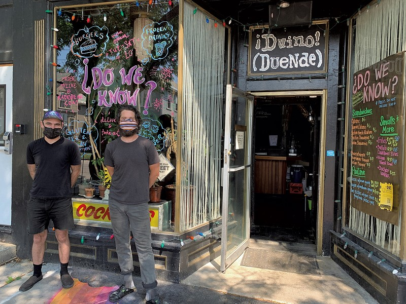 Lee Anderson (left) and Justin Wright of C'est Ça, which will replace ¡Duino! (Duende) in August - MELISSA PASANEN ©️ SEVEN DAYS