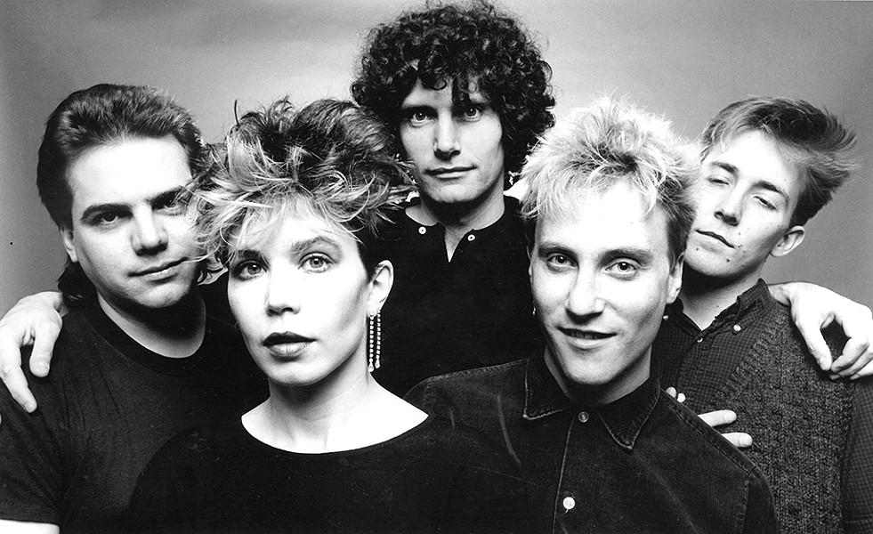 The Decentz (from left): Gordon Stone, Pamela Polston, Peter Torrey, Jimmy Ryan and Brett Hughes, circa 1982 - COURTESY OF DAVID ROBY