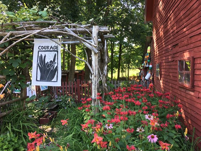 Garden at Red Sky Trading - PAMELA POLSTON ©️ SEVEN DAYS