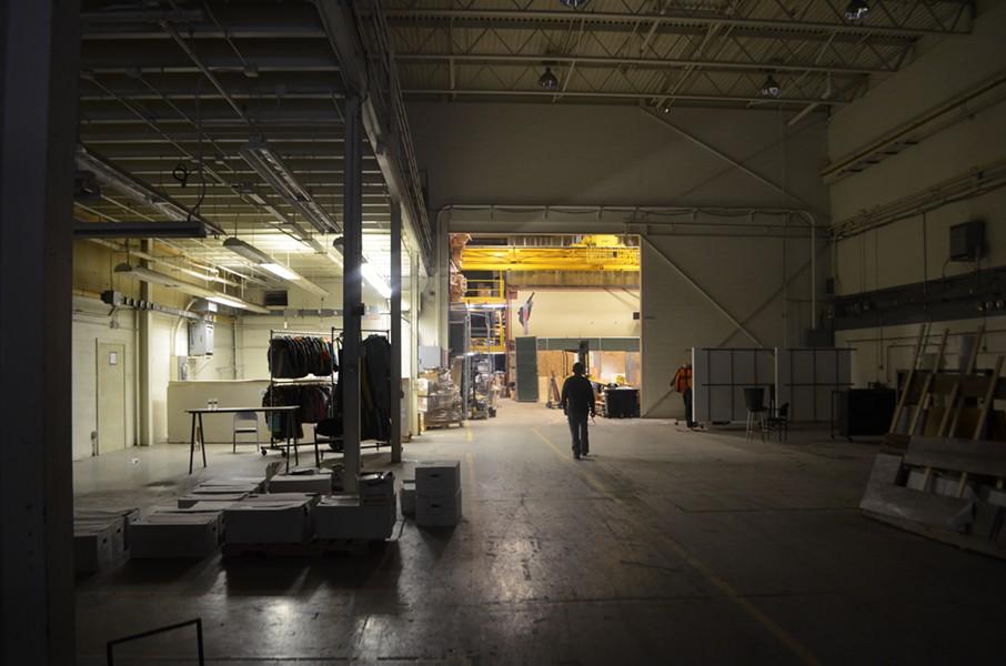 The proposed concert venue space at Burton - FILE: SASHA GOLDSTEIN ©️ SEVEN DAYS