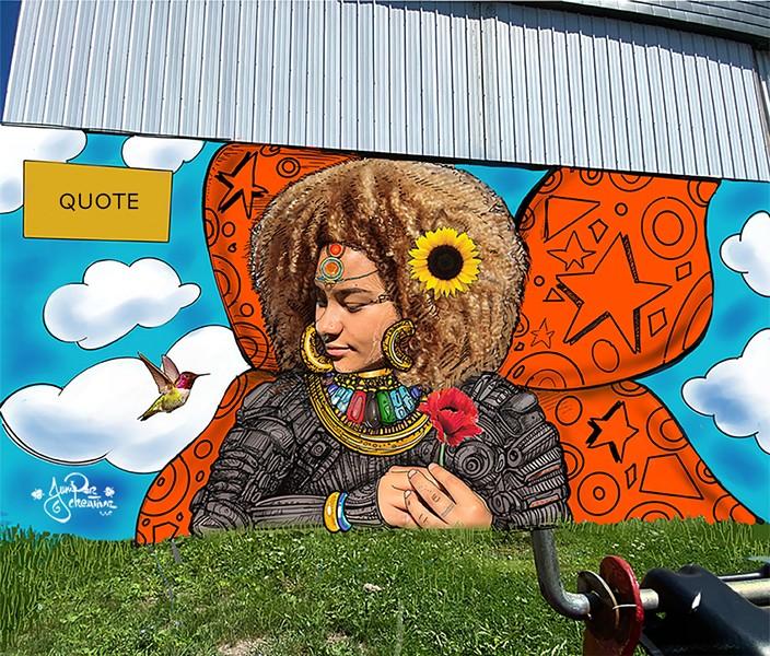 The proposed mural - COURTESY OF JUNIPER CREATIVE ARTS