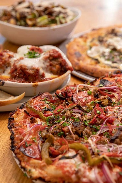 Pepperoni-and-sausage thick-crust pie and more at Pizza 44 - FILE: JAMES BUCK