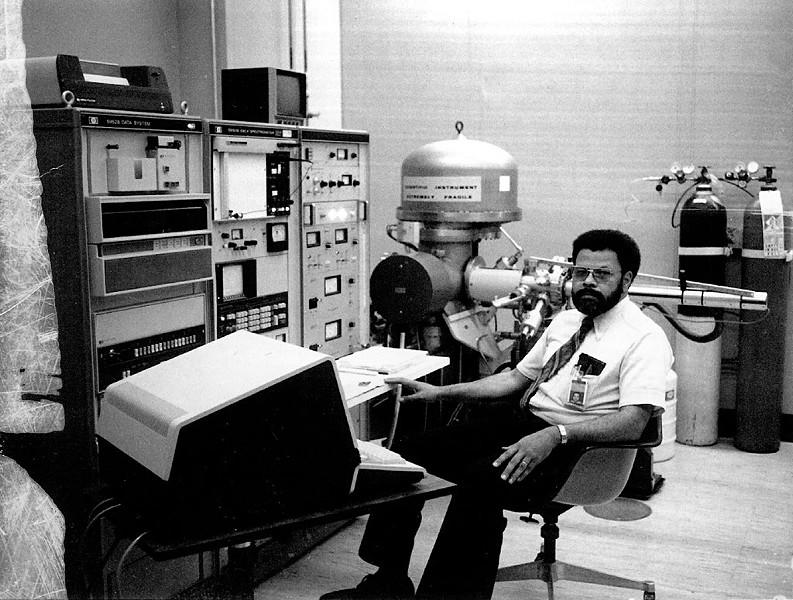 Dr. Herbert Leary Jr. at IBM - COURTESY