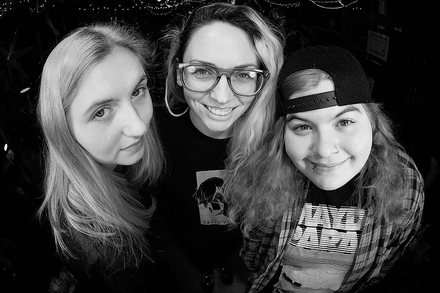 From left: Big Heavy World crew member Mollie Allen, author Shawna Potter and crew member Cadence Gentley - COURTESY OF BIG HEAVY WORLD