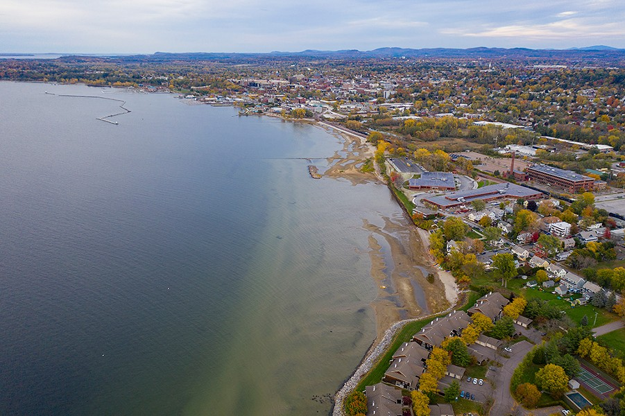 Looking north toward Burlington along Lake Champlain - JAMES BUCK
