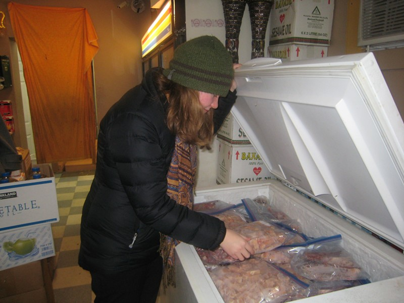 Ali Barritt at the Community Halal Store in the Old North End in Burlington - KYMELYA SARI