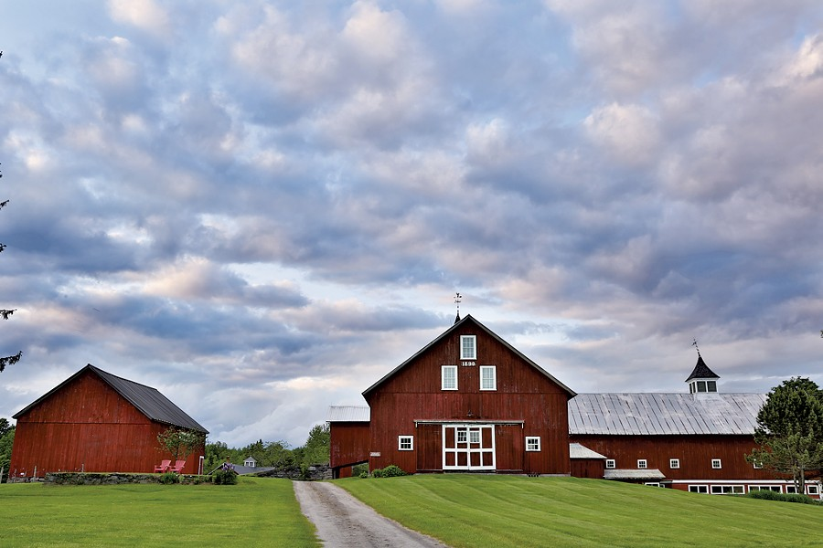 The rustic barn at the Inn at Mountain View Farm - COURTESY OF THE INN AT MOUNTAIN VIEW FARM