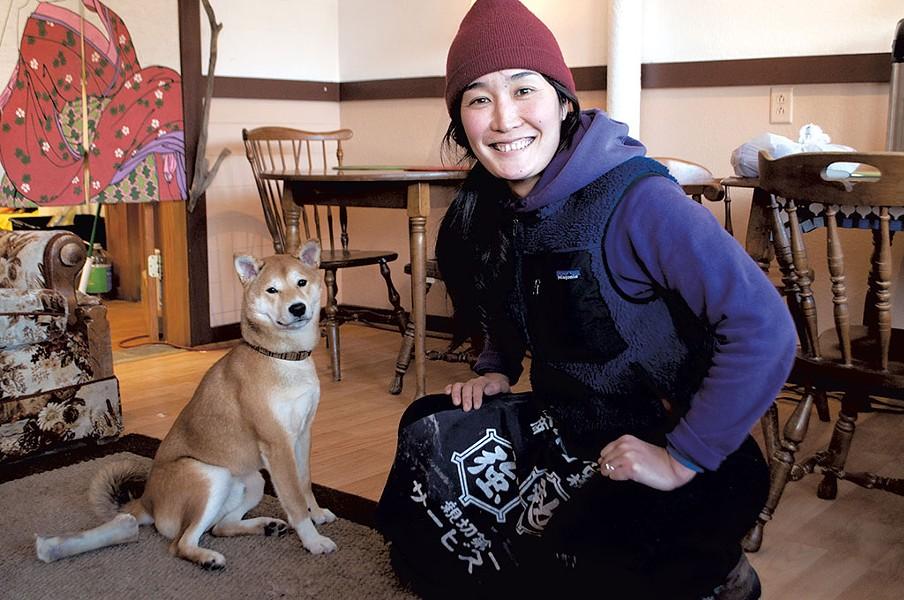 "Momoko ""Momo"" Antonucci and her dog, Miso - HANNAH PALMER EGAN"