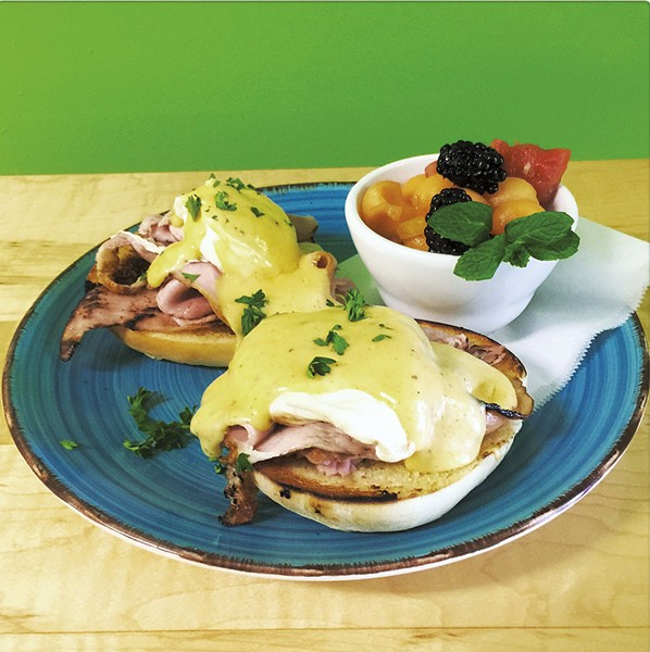 Eggs Benedict at Rogue Artisans Café - COURTESY OF ROGUE ARTSIANS CAFÉ