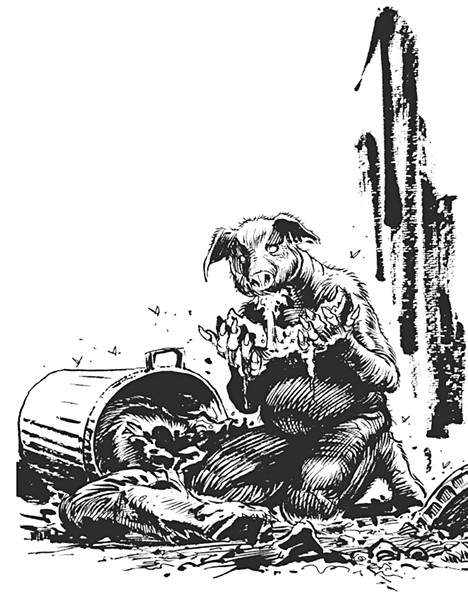 Illustration of Pigman by Stephen R. Bissette - COURTESY
