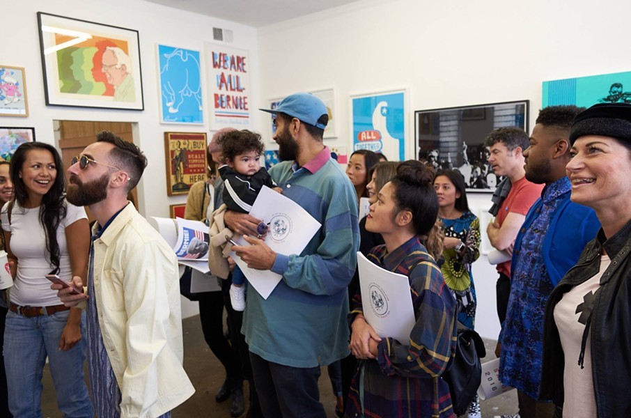 """The Art of a Political Revolution"" opening at HVW8 Gallery - COURTESY OF MIKE SELSK"