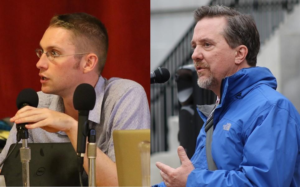 Progressives Max Tracy (left) and Brian Pine - FILE: COURTNEY LAMDIN ©️ SEVEN DAYS
