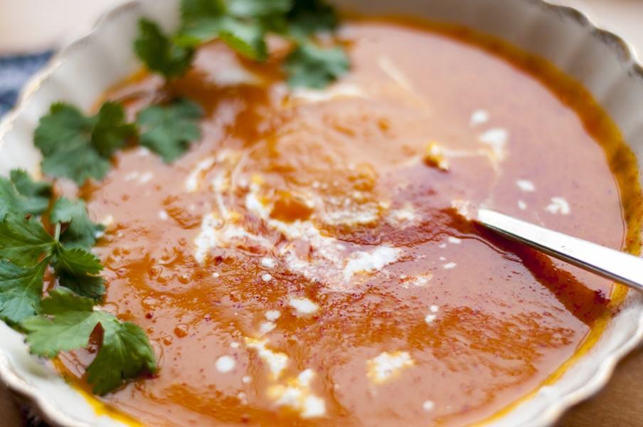 Squash soup with buttermilk and Bulgarian feta - HANNAH PALMER EGAN