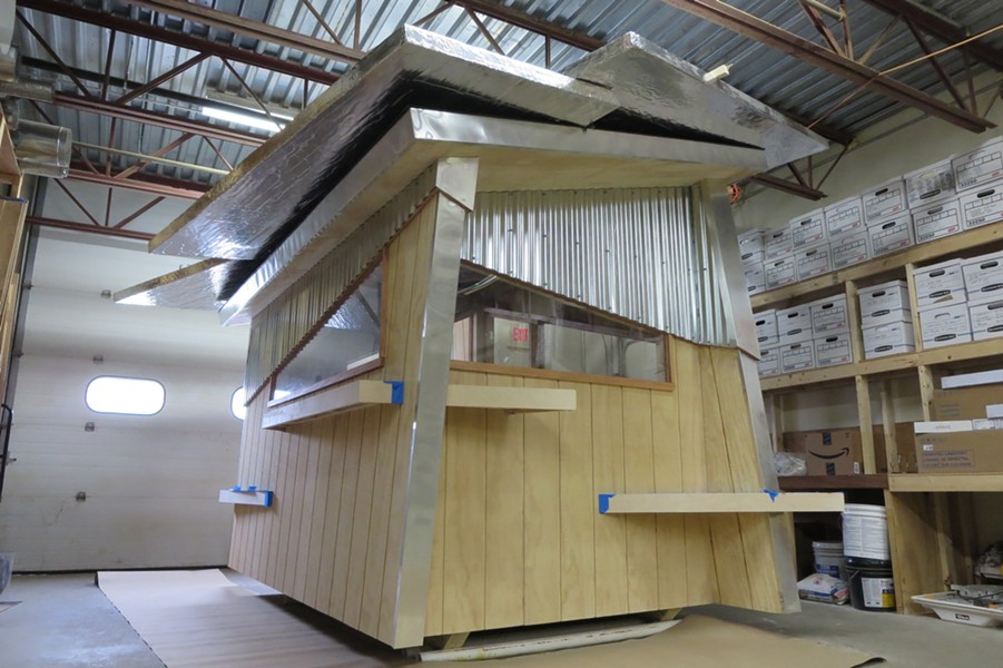 Peregrine Design/Build's ice shanty