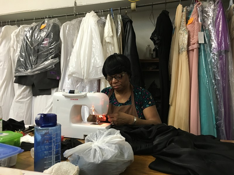 Arleather Hampton at Final Touch Bridal in Orangeburg, S.C. - PAUL HEINTZ